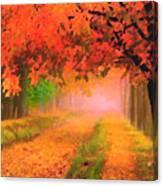 Orange Fall Canvas Print