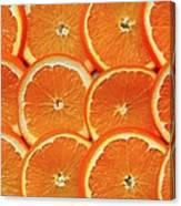 Orange Fruit Slices Canvas Print