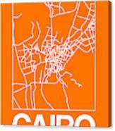 Orange Map Of Cairo Canvas Print