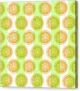 Orange Slice Pattern 2 - Tropical Pattern - Tropical Print - Lemon - Orange - Fruit - Tangerine Canvas Print