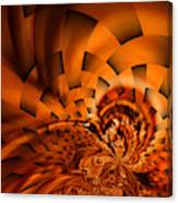 Orange Weave Canvas Print