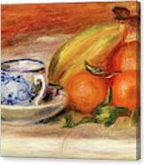 Oranges, Bananas, And Teacup - Digital Remastered Edition Canvas Print