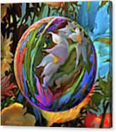 Orbing Aloha Lei Canvas Print