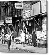 Orchard Street Market On The Lower East Canvas Print