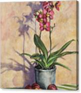Orchids And Plums Canvas Print