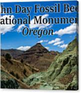 Oregon - John Day Fossil Beds National Monument Blue Basin Canvas Print