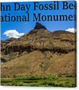 Oregon - John Day Fossil Beds National Monument Sheep Rock 2 Canvas Print