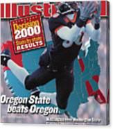 Oregon State University Chad Johnson Sports Illustrated Cover Canvas Print