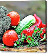 Organic Veg Canvas Print