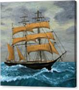 Original Artwork, Clipper Ships At Sea Canvas Print