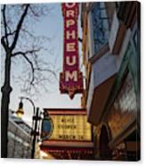 Orpheum Theater Madison, Alice Cooper Headlining Canvas Print