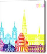 Osijek Skyline Pop Canvas Print