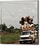 Overloaded Car Canvas Print