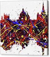Oxford Colorful Skyline Canvas Print
