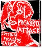 Pablo Picasso Attack 6 Canvas Print