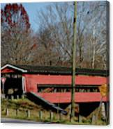 Painted Bridge At Chads Ford Pa Canvas Print