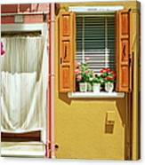 Painted House In Burano Canvas Print