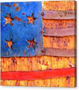 Painted Us Flag, Georgia, Usa Canvas Print