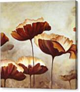 Painting Poppies With Texture Canvas Print