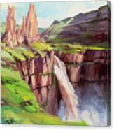 Palouse Falls Rush Canvas Print