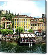 Panorama Of Bellagio From Lake Como Canvas Print