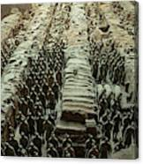 Panorama Of Pit 1, Terra Cotta Warriors Canvas Print