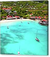 Panoramic View Of St.jean Bay In Canvas Print