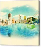Panoramic Water Color Illustration San Canvas Print