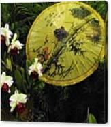 Parasol Among The Orchids Canvas Print