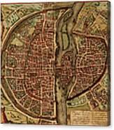 Paris Antique View Canvas Print