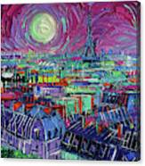 Paris By Moonlight Canvas Print