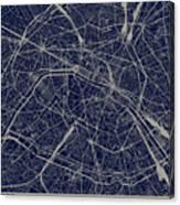 Paris City Structure Illustration Canvas Print