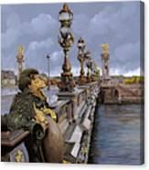 Paris-pont Alexandre Terzo Canvas Print