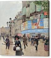 Paris, Rue Du Havre Circa 1882 Canvas Print