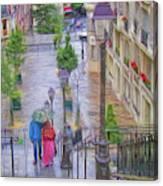 Paris Sous La Pluie Canvas Print