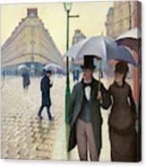 Paris Street In Rainy Weather - Digital Remastered Edition Canvas Print