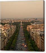 Paris View At Sunset Canvas Print