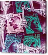 Parisian Postmarks Canvas Print