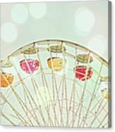 Pastel Ferris Wheel Canvas Print