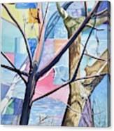 Patchwork Trees Canvas Print