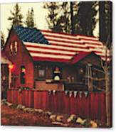 Patriotic Bar And Grill Canvas Print