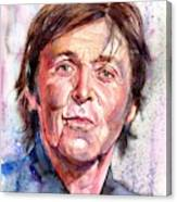 Paul McCartney Watercolor Canvas Print
