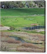 Peaceful Farm In Durango Canvas Print