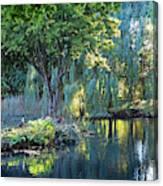 Peaceful Oasis - Japanese Garden Lake Canvas Print