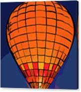 Peach Hot Air Balloon Night Glow In Abstract Canvas Print