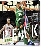 Peak Greek Giannis Antetokounmpo Is A Buck To Build Around Sports Illustrated Cover Canvas Print