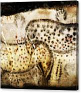 Pech Merle Horses And Hands Canvas Print