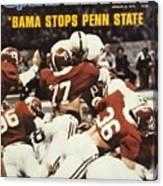 Penn State Mike Guman, 1979 Sugar Bowl Sports Illustrated Cover Canvas Print