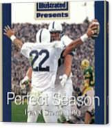 Penn State University Brian Milne, 1994 Ncaa Perfect Season Sports Illustrated Cover Canvas Print