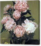 Peonies Front And Center Canvas Print